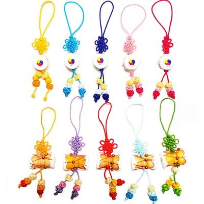 한국전통악기 장구 북 매듭핸드폰줄 (10개묶음)