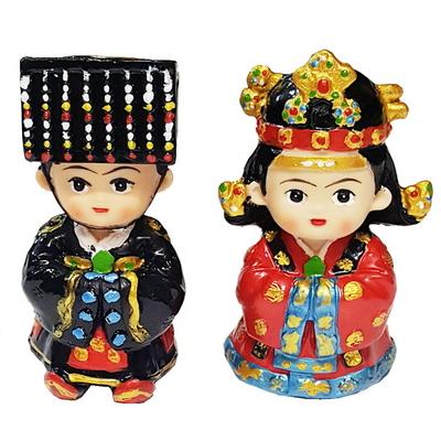 한국전통 대례복 왕과왕비 미니 장식인형