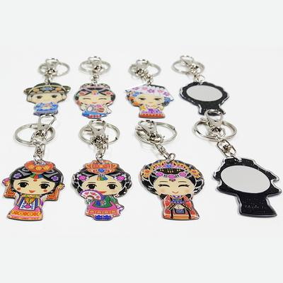 한국 전통캐릭터 아크릴 거울열쇠고리 (8개묶음)