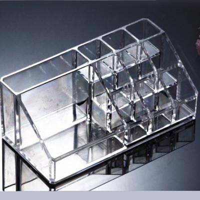 투명 향수 립스틱 화장솔 홀더 정리함  보관함 수납함(소)