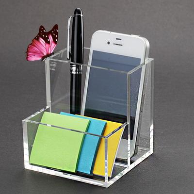 투명 명함 펜 메모지 핸드폰 꽂이 홀더(소)