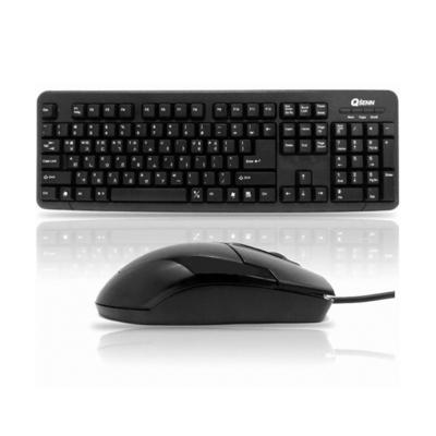 큐센 심플 키보드+마우스 USB 셋트 GP-KM2100