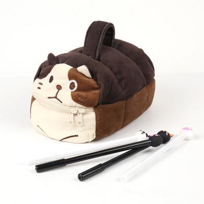 [해피토피아] 식빵냥 파우치 고양이필통(다크브라운)