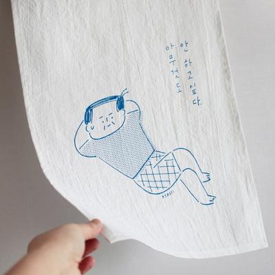 아자씨 창문가리개 - 아무것도 (블루)