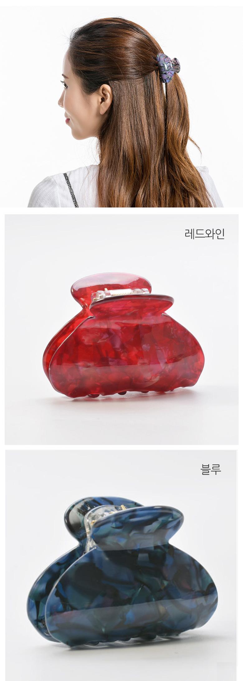 링벨집게핀 - 유앤알코리아, 3,700원, 헤어핀/밴드/끈, 헤어핀/끈