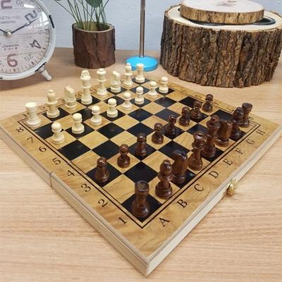 휴대용 원목 접이식 체스 체커