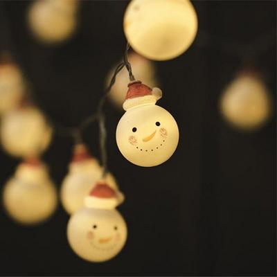 크리스마스 눈사람 가랜드 조명