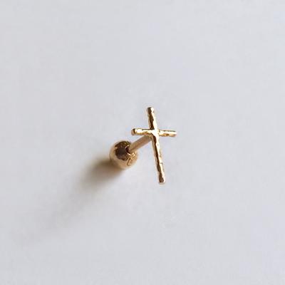 14k gold cross piercing
