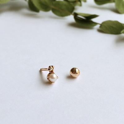 14k gold pearl diamond piercing