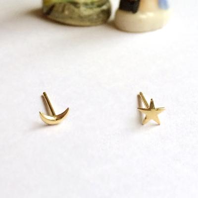 10k gold galaxy earring