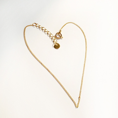 14k gold simple chain bracelet