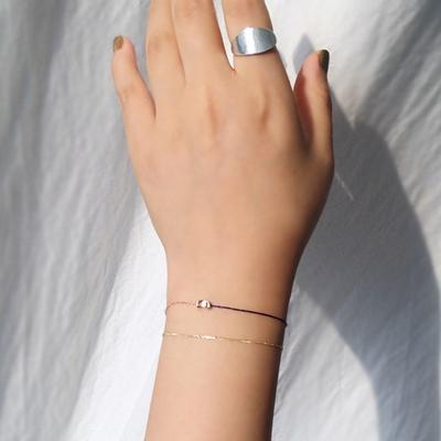 14k gold fabric navy line bracelet