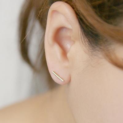 10k gold pipe earring