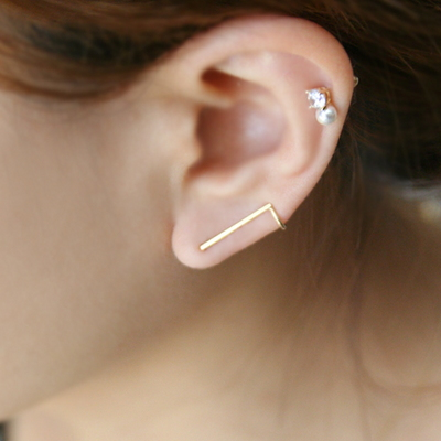 14k gold unique earring