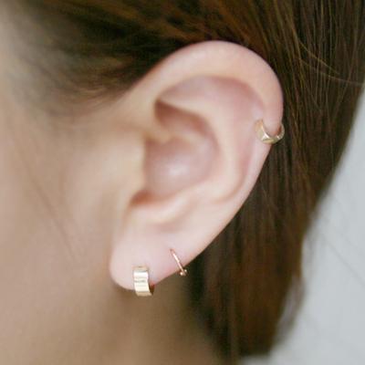 10k gold ring earring Large