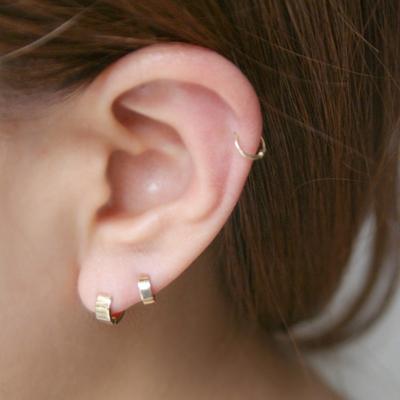 10k gold ring earring Medium