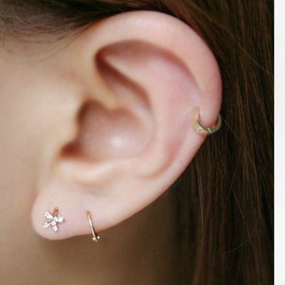 10k gold ring earring Small