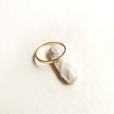14k gold simple band ring
