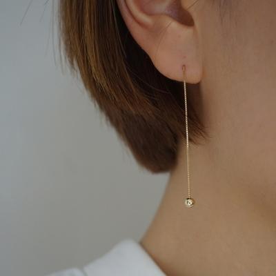 14k gold simple drop piercing no.2