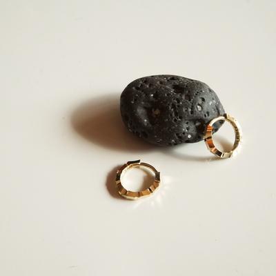 14k gold stair ring earring