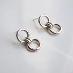 silver 8 earring