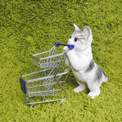 초롱초롱 회색 고양이 장식
