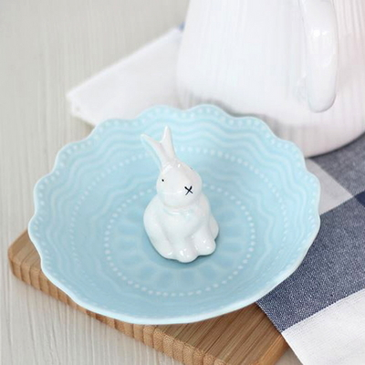 블루 토끼 악세서리 트레이