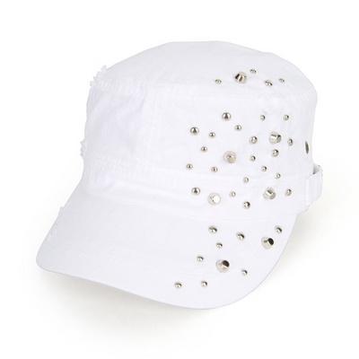 찡장식 빈티지 군모 밴딩 모자 AC450A