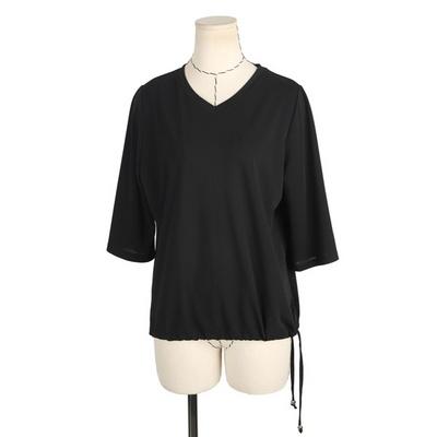 빅사이즈 둥근카라넥 배색 티셔츠 BRS552