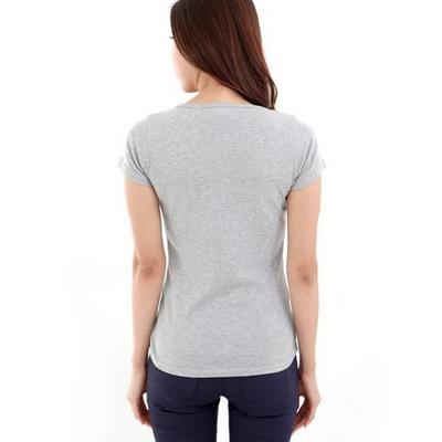 앞지퍼 포인트 반팔 라운드 티셔츠