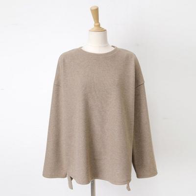 빅사이즈 니트 라운드넥 티셔츠 WB555