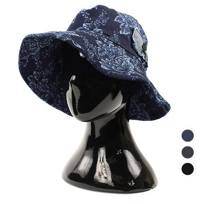 빈티지 패치 벙거지 모자 DCH-ET583