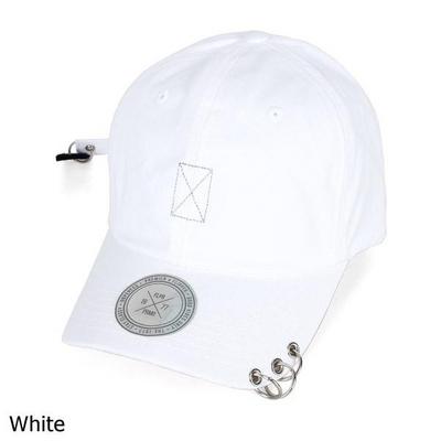 바이저 3링 피어싱 롱테일 볼캡 모자 OH116