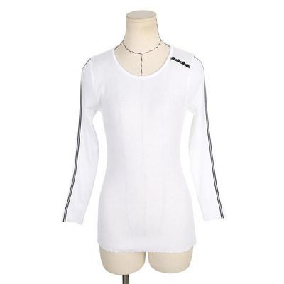 빅사이즈 소매라인 어깨버튼 티셔츠 A071