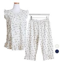베어 레이온 투피스 민소매 여성잠옷 W449