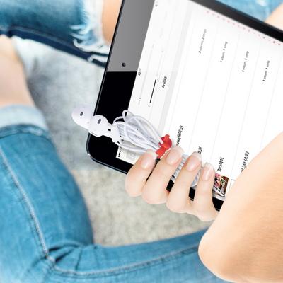 신지모루 이어폰 케이블 선 정리 실리콘 케이블 타이