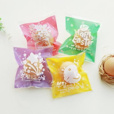 부활절 달걀 1구 포장비닐 (100개)_4종set