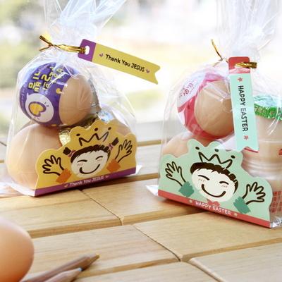 부활절 달걀 2구 받침 40개 (비닐 끈포함)_Kids set