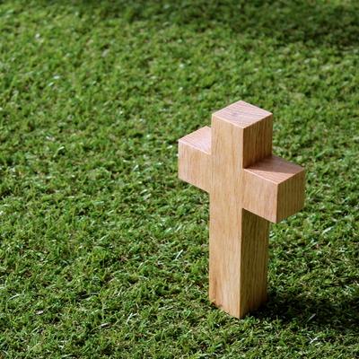원목 사각 십자가 (소-탁상용)