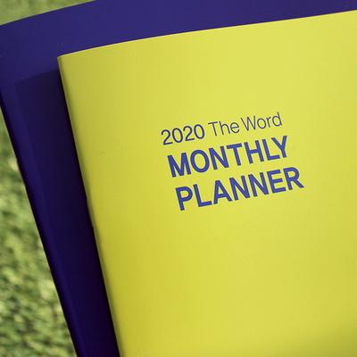 2020 더워드 먼슬리 플래너_ 라임그린