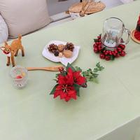 (대폭)크리스마스그린 라미네이트 방수식탁보