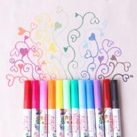 패브릭마카 12색 세트 섬유물감 민화 그림 그리기놀이