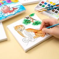 캔버스액자 민화 도안 그림 그리기 호랑이 부엉이