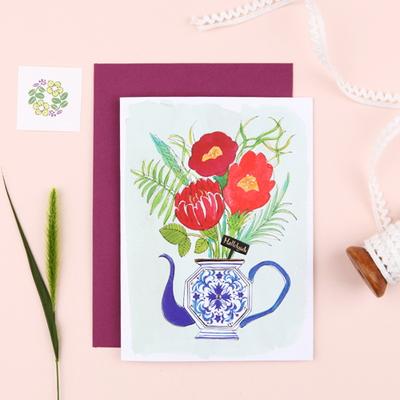그레이스벨 카드 도자기꽃 4종
