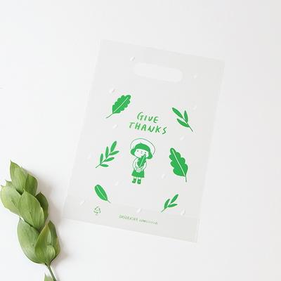 패키징 선물포장 비닐백(중) 02.젤리그린(5매)