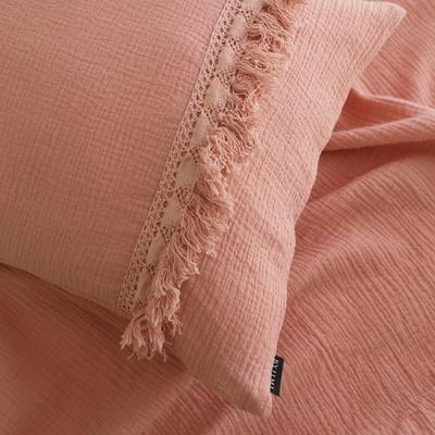 보헤미안 태슬 여름이불-핑크