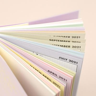 (날짜형) 2021 컬러플랜 위클리 플래너