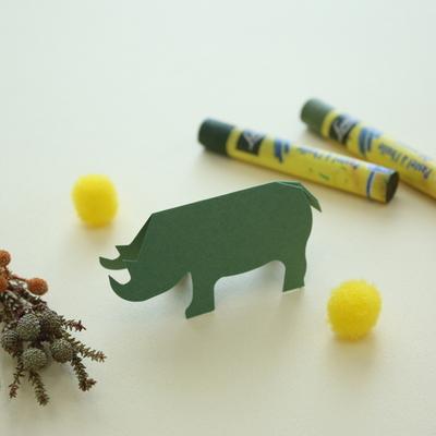 팝아웃카드 디자인 메모지 코뿔소