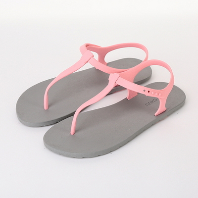Sandal, Gray-Light_pink