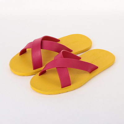 Cross, Yellow-Hot pink